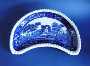 Copeland Spode's 'Tower' Pattern Half Moon Side Dish c1904